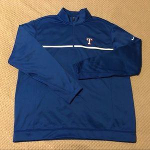 Texas Rangers Nike Golf Therma-Fit 1/4 Zip Sweater